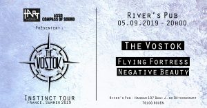 Concert The Vostok & Flying Fortress & Negative Beauty en live