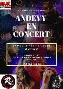 Andevy en live au River's